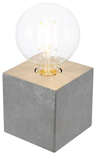 Tischleuchte 1-flg. LEONIE betonfarbig für 1xE27,max.42W 10cmx10cm,H:10cm AN-/AUS-Touch
