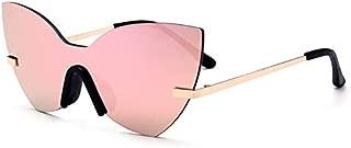 Sunglasses Fashion Accessories Style Model Serves Unitary UV Sunglasses Glasses (Color : Pink)