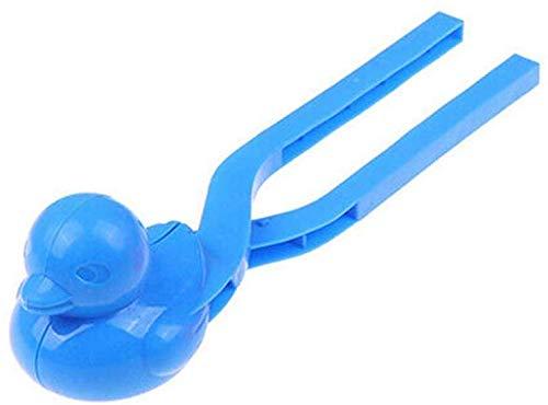 HOLAL Schneeball Hersteller Clip, Ente Form Schnee Schaufel, Außen Winter Schnee Sand Gussform Werkzeug Spielzeug für Kinder - Blau