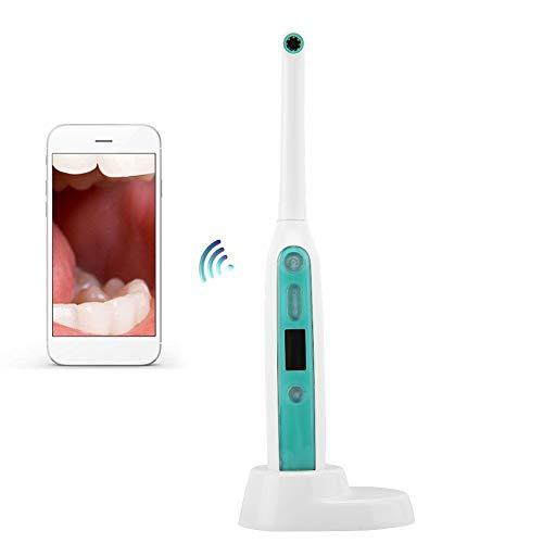 Intraorale Kamera Dental, WiFi Intraoralkamera Mundpflege Kit 1080P HD Zahn Kamera, Wasserdichter Drahtloser Tragbarer Hand Zahn Dental Camera mit 8 LED Leuchten