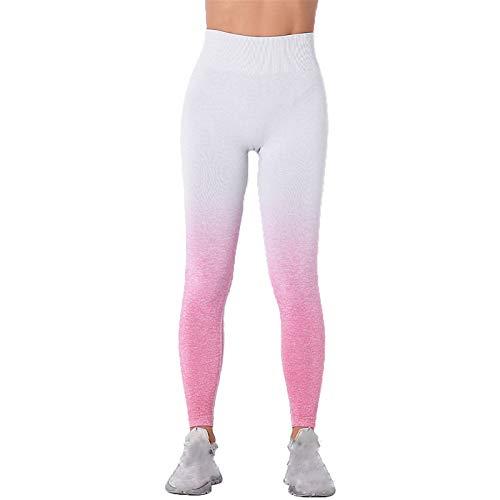 Leggins Mujer Fitness Mallas Deportivo Pilates, Pendiente de cintura alta de la cintura for mujer Leggings sin fisuras Runny Control Scrunch Butt Lift Skinny Yoga Pantalones Fitness Gimnasio Medias pa