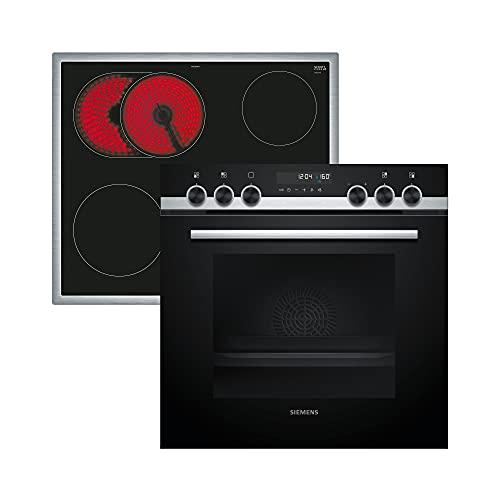 Siemens PQ521KB00 iQ500 Herd-Kochfeld-Kombination / 59,4 cm / Aufheizkontrolle / Flachrahmen-Design / coolStart-kein Vorheizen / activeClean / Schnellaufheizung