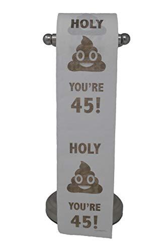 Happy 45th Birthday Toilet Paper Prank Funny Gag Gift!