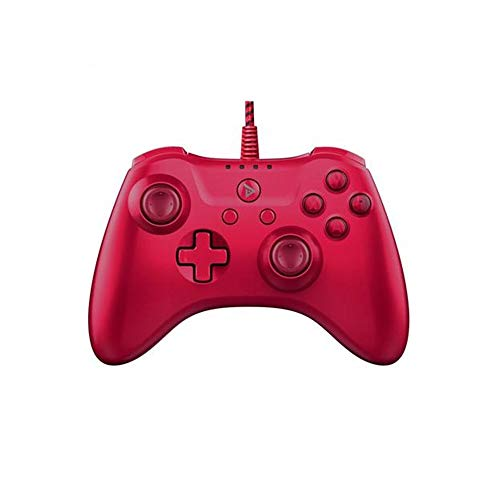 CaoDquan Manette De Jeu USB Wired Jeu ControllerRed antidérapants Gamepad for Les Ordinateurs Portables et Les téléphones Mobiles 15.4x10.5x6.2cm (Color : Red, Size : 15.4x10.5x6.2cm)