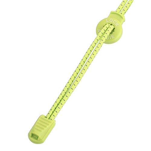 SALUTUYA Sistema de Bloqueo Flexible elástico de Seguridad para Cordones para Correr Seguro, para Caminar(Fluorescent Yellow)