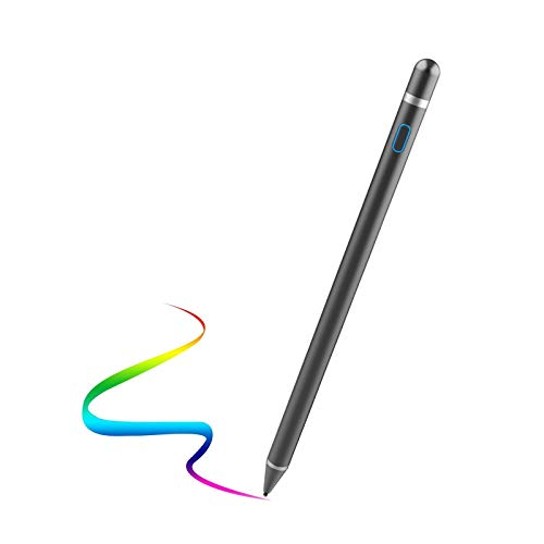 Active Stylus Pen for Touch Screens, Rechargeable Pencil Digital Stylus Pen Compatible with iPad and Most Tablet (Black)