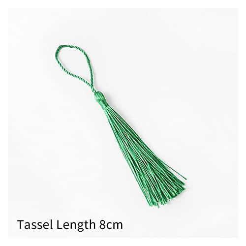 Fait Adolph 32 unids/Pack poliéster Tassel de la Borla de Seda de 13 cm de algodón para borlas de algodón para Cortinas de Coser Accesorios DIY Decoración de la Boda (Color : Green)