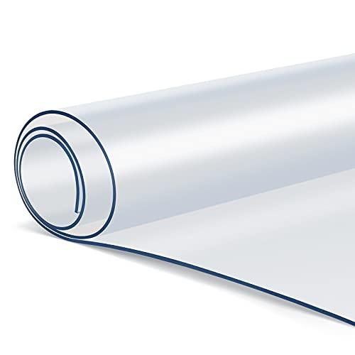femor Tischfolie Transparent, PVC Tischdecke, 200*91cm(L*B),2 mm, Tischschutz Transparent, Durchsichtige Tischdecke, pflegeleicht, abwischbar, ölbeständig
