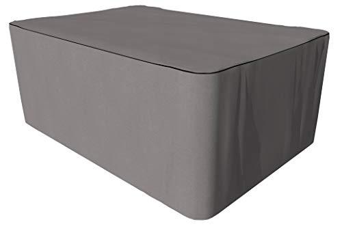 SORARA Schutzhülle gartenmöbel Abdeckung für rechteckigen Tisch Set | Grau | 220 x 140 x 90 cm | wasserabweisend