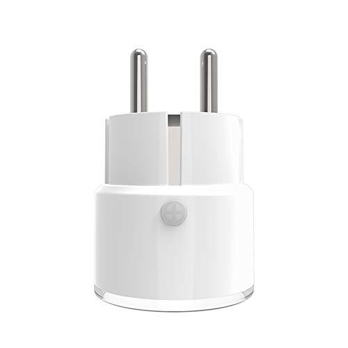 LJP Neo WiFi Conector Inteligente Conmutador Inteligente Conector UE Enchufe Inteligente Sincronización Inteligente Conector Inalámbrico Compatible con Android Y iOS.
