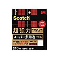 (まとめ) 3M スコッチ 超強力両面テープ プレミアゴールド (スーパー多用途) 10mm×10m PPS-10 1巻 【×3セット】