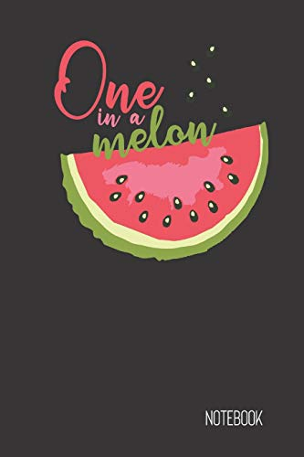 Find Bargain one in a melon notebook: small lined Fruit Pun Notebook / Travel Journal to write in (6...
