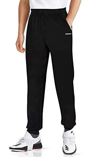 BENNIES Jogginghose Herren Trainingshose Sporthose Herren Lang Schwarze Hose Männer Sweatpants Slim Freizeithose mit Taschen für Freizeit Fitness Sport Laufen XL