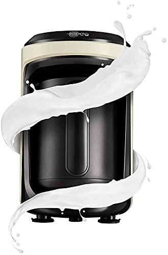 Karaca Hatır Hups Türkische Kaffeemaschine Creme, Für 5 Personen, Kaffeevollautomat, Türkischer Mokka mit Milch, Heisse Schokolade, Instantkaffee mit Milch, Milch erwarmen