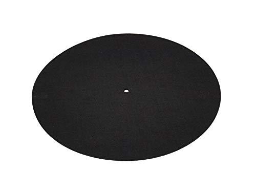 OMNITRONIC Slipmat, antistatisch, neutral schwarz | Schont den Motor des Plattenspielers und schützt die Schallplatten