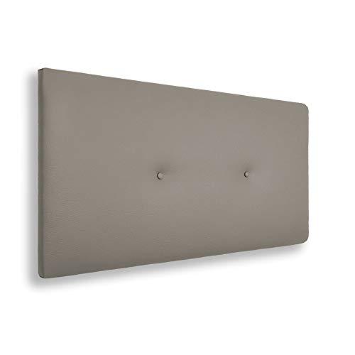 Silcar Home – Cabecero tapizado en polipiel 2 botones 90 x 50 cm
