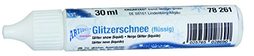 CREARTEC Glitzerschnee flüssig - feine silberne Glanzpigmente - 30ml - Made in Germany