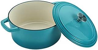 Imoma Esmalte de Hierro Fundido Esmalte Olla Sopa Espesamiento de Gas Cocina de inducción General 24cm,Blue