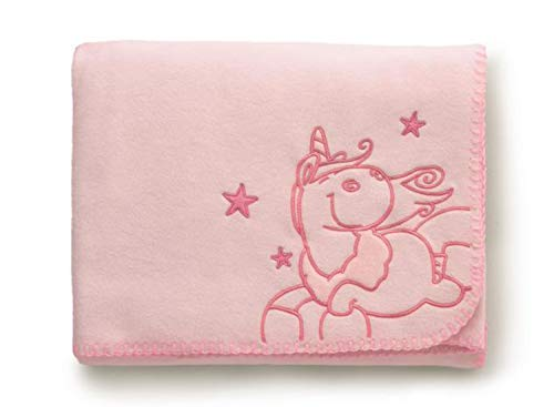 Nici 27060 eenhoorn knuffelig fleece deken 1,8 m x 1,1 m roze