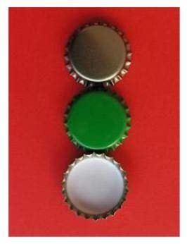 Vendemmia e Pomodori Tappi Metallo a Corona per Bottiglie, Confezione da 100 Pezzi