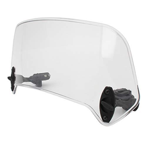 KESOTO 36cm Motorrad Windschutzscheibe Windschild Spoiler-Aufsatz Windschutzscheibe Verlänger klar