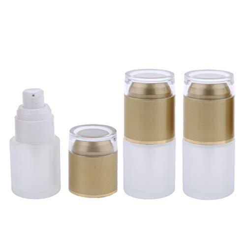 F Fityle 3pcs Flacons Parfum Vaporisateur Vide Etuis Stockage Lotion - 01 Doré