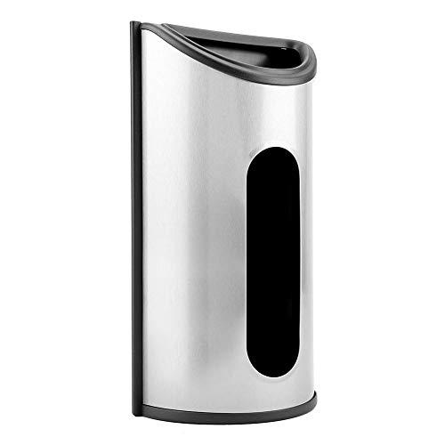 Eastbuy Dispensador de Bolsas - Soporte de Bolsa de plástico de Acero Inoxidable Soporte de dispensador de Almacenamiento de Bolsa de plástico de Cocina (Plateado)