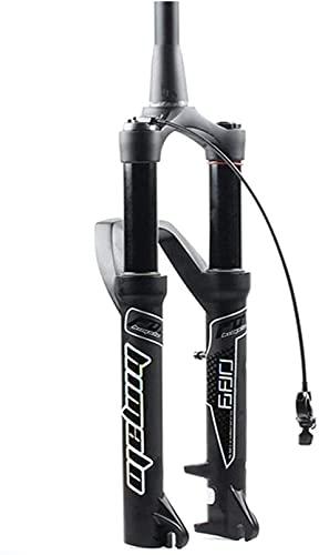 WYJW Horquilla de Bicicleta MTB 26/27,5/29 Pulgadas Horquilla neumática Horquillas de suspensión de Bicicleta de montaña 34 Horquillas Delanteras de Freno de Disco 110 mm Recorrido 1-1/2'H