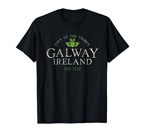 Vintage Irish Souvenir Gifts: Claddagh Galway Ireland T-Shirt