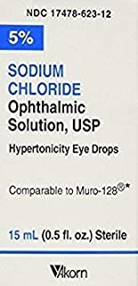 Akorn USP 5 Sodium Chloride Ophthalmic Solution, 0.5 Fluid Ounce (Pack of 2)