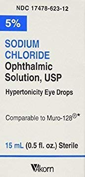 Price comparison product image Akorn USP 5 Sodium Chloride Ophthalmic Solution,  0.5 Fluid Ounce (Pack of 2)