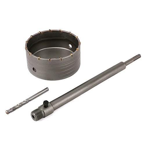Sega a tazza per cemento e mattoni da 350 mm, kit per trapanare muri, mattoni, cemento o installazione di aria condizionata, JN201870530, 350mm Round Shank, 120mm Saw Diameter