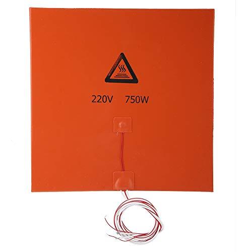BTIHCEUOT 3D-Druckerteile und Zubehör, Silikon-Heizmatten-Heizbettauflage(220 V 750 W 300 * 300 mm)