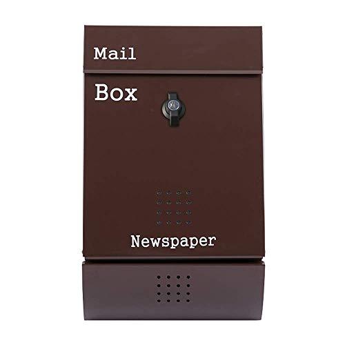 AWJ Briefkasten an der Wand, Briefkasten im Freien Home Suggestion Box Kreativer wasserdichter und diebstahlsicherer Briefkasten, Postmanager für Wandbehänge im Freien, 26 x 8,5 x 32 cm