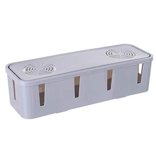 Caja organizadora de cables y regletas de enchufes Hider Management con tapa...