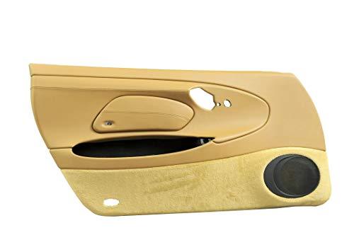 Cubierta de puerta + cubierta para airbag de piel para Porsche 911 996, color beige