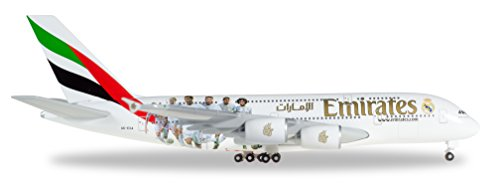 Herpa 529242 - Emirates Airbus A380 Real Madrid