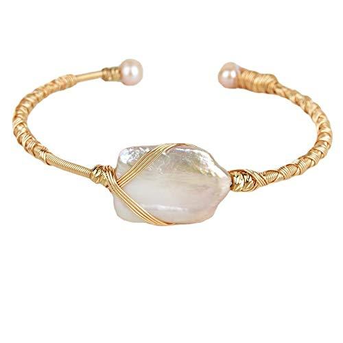 HNCZ Pulsera de Perlas de Cuerda, Pulsera de Perlas de Cuerda Cruzada
