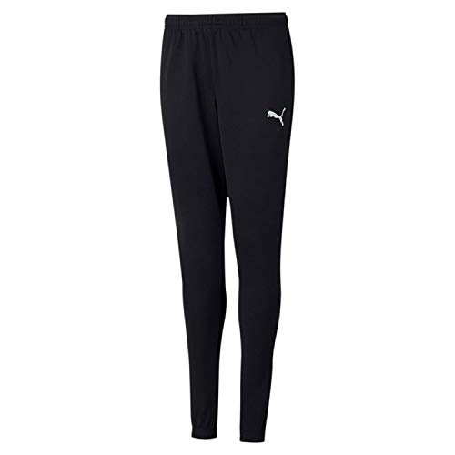 PUMA Jungen Jogginghose Teamrise Poly Training Pants J, Black White, 152, 657391