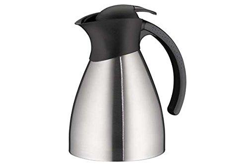 alfi Thermoskanne BonoTT, Edelstahl mattiert 1,0l, mit TopTherm Edelstahleinsatz,0787.000.100, Isolierkanne hält 12 Stunden heiß, ideal als Kaffeekanne oder Teekanne, Kanne für 8 Tassen
