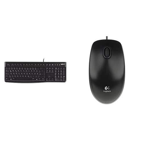 Logitech K120 Tastiera Cablata per Windows + B100 Mouse USB Cablato