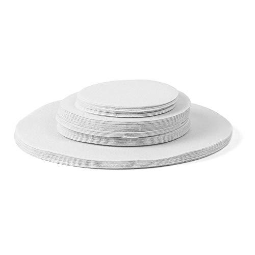 Richards Homewares Lot de 48 séparateurs de rangement en porcelaine souple Blanc 30,5-25,4 cm, 61-15,2 cm, 30,5-11,4 cm