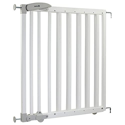 Safety 1st Treppenschutzgitter Dual Install Extending, Türschutzgitter aus Holz, Befestigung ohne Bohren, Länge: 69 - 104 cm, Weiß
