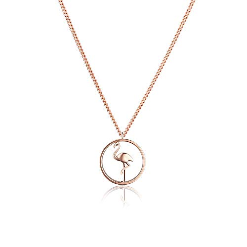 PAUL HEWITT Flamingo Halskette Damen Tropicool aus Edelstahl in IP Roségold