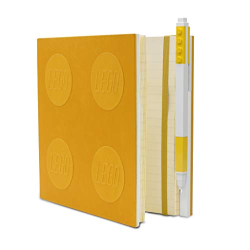 IQ Lego Stationery Locking Notebook with Gel Pen - Yellow