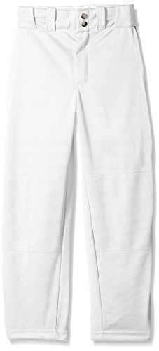 Wilson Youth Classic Relaxed Fit Piped Baseball Pant, White/Navy, Medium