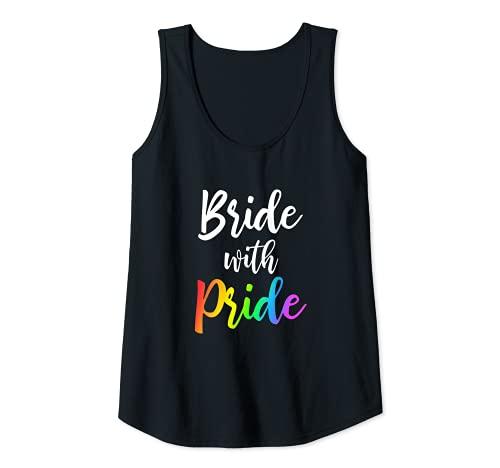Mujer Bride with Pride LGBT boda lesbiana Camiseta sin Mangas