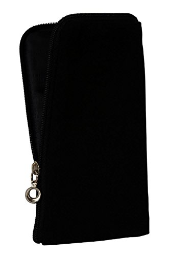 Gütersloher Shopkeeper Zipper Sac Fermeture Handy Soft Case pour Sony Xperia L2 – Handy Sac Housse Etui Case Noir