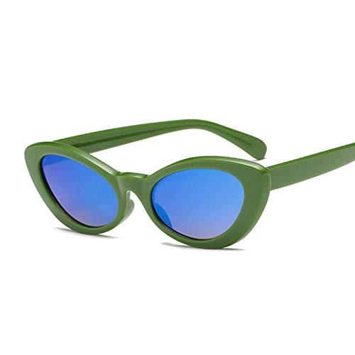 Gafas De Sol Gafas De Sol Vintage para Mujer, Gafas De Sol Redondas, Gafas De Sol Retro para Mujer, Tonos Femeninos, Verde