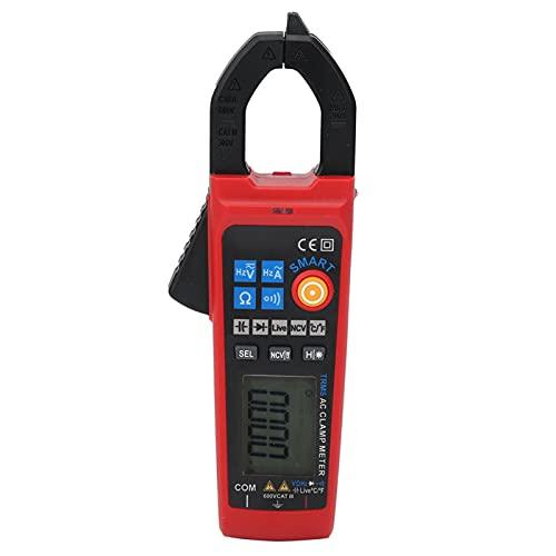 Misuratore di tensione CA/CC digitale intelligente, con torcia con display LCD per resistenza alla corrente CA on-off, capacità, ecc.